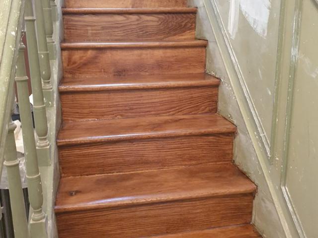 Rénovation d'escalier en bois